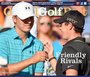 今年の海外ツアーを牽引する若い2人。マキロイ〔右)とスピース。「彼らはパーマー、ニクラスの宿敵関係になれるか?」米Global Golf Postの期待は大きく膨らむ