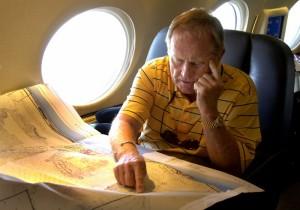 これがニクラスの愛機Air Bear。豪華な機内は、まさに空飛ぶオフィス(coutesy of Nicklas Companies)