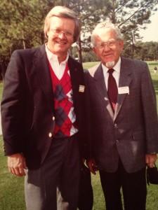 マスターズ会場での、PINGの創業者カーステン・ソルハイムとボブ。欧米の女子対抗、ソルハイムカップ設立をはじめ、このコンビは世界のゴルフ界の、流れを変えた
