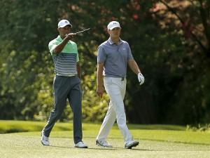 いま40歳のタイガーと、22歳スピース。2年前のこの時、2人はどんな会話を、交わしていたのか。結果的にタイガーの20年間は、ニクラスを追い掛け、それが歴史になった。果たしてスピースは、新しい一頁を、塗り替えられるのだろうか(courtesy of Global Golf Post)